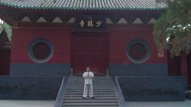 Chine, province septentrionale du Henan. Temple de Shaolin. Maître Valeriy Maistrovoy.