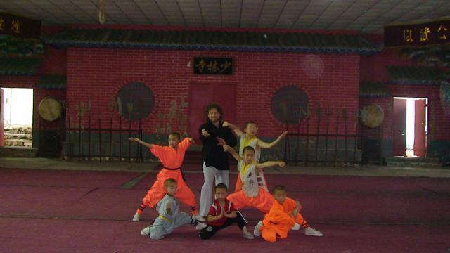 Avec les moines Shaolin.