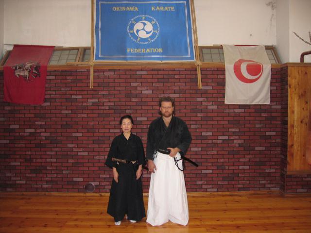Avec Goto Keisen 7e dan Iaido et Kembu.