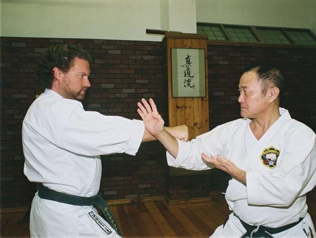 Avec Maître Nagamine 10e dan.