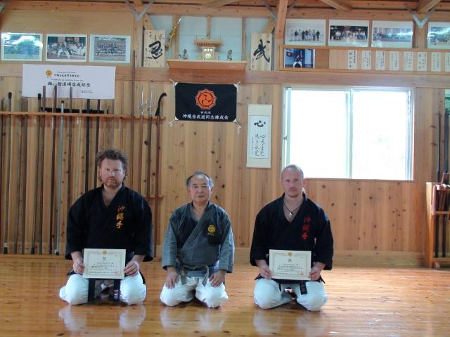 Gasshuku avec Maître Gakiya (Honbu Dojo Okinawa, Japon).