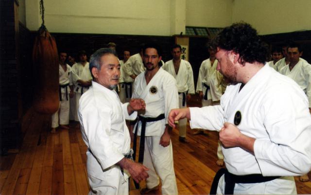 Avec Maître Eihachi Ota 9e dan.