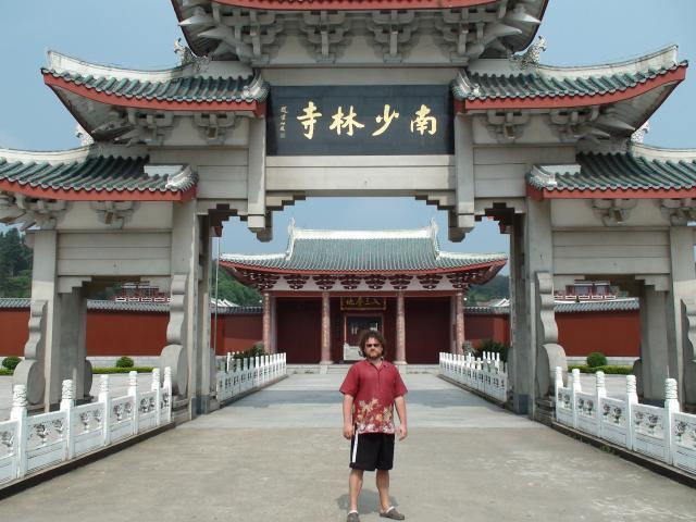 Chine, province du Fujian. Temple de Nan Shaolin. Maître Valeriy Maistrovoy.